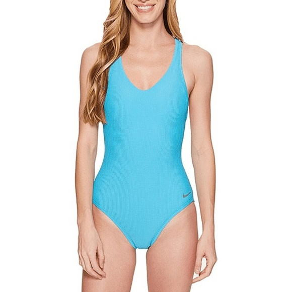 0c922309d Nike Ribbed Racer Back One Piece Swimsuit